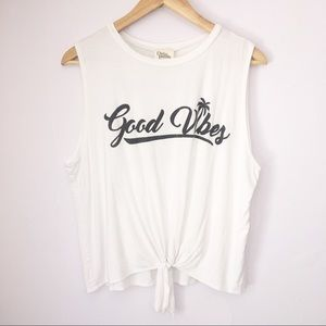 Dirtee Laundry Good Vibes Makes You Shine Tank Top
